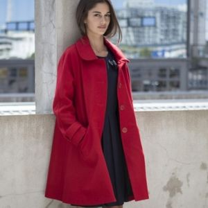 East 5th red wool peacoat